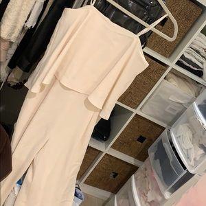 Halston Heritage NWT cream jumpsuit